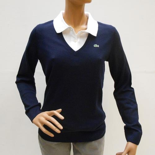 alta moda così economico nuovi stili Maglione LACOSTE Donna scollo V AF6108-166 | Panarotto Sport ...